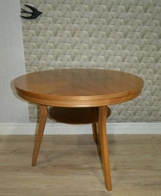 Round Mid Century Coffee Table 1960s 5