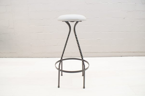 Astounding Mid Century Iron Bar Stools 1950S Set Of 4 Forskolin Free Trial Chair Design Images Forskolin Free Trialorg