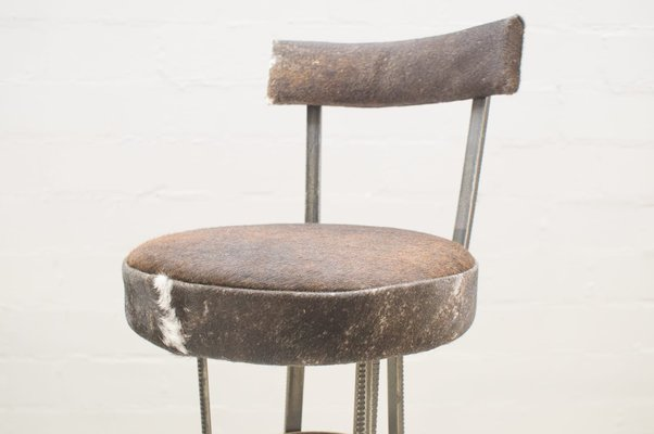 Sgabello bar prisma in ferro e legno colore naturale cm h