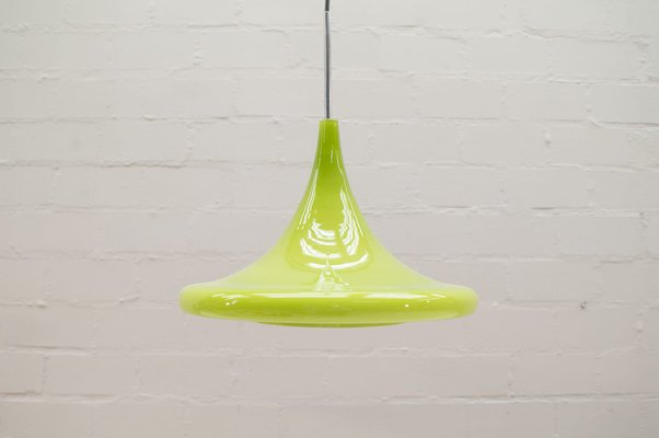 Apple Green Glass Tulip Hanging Lamp From Peill Putzler 1960s