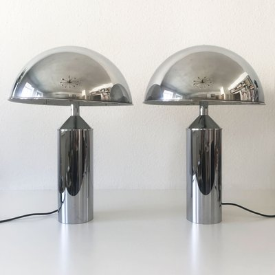 Large Mid Century Modern Table Lamps From WKR, 1970s, Set Of 2 1
