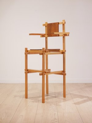 Mid Century Modern High Chair By Gerrit Rietveld, 1960s