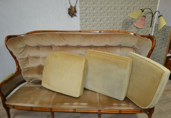 Vintage Sofa With Viennese Mesh For