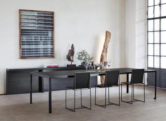 Grande Table de Salle à Manger TAVOLO en Linoléum Noir par Maurizio  Peregalli pour Zeus