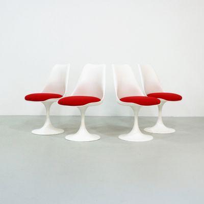 Vintage Tulip Chairs By Eero Saarinen For Pastoe, Set Of 4 1