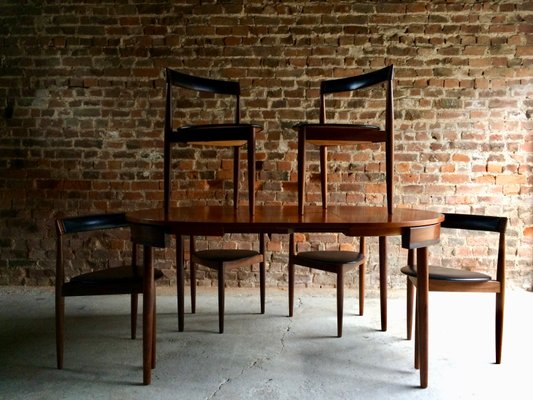 Mid-Century Dining Table and 6 Chairs by Hans Olsen for Frem Rojle D