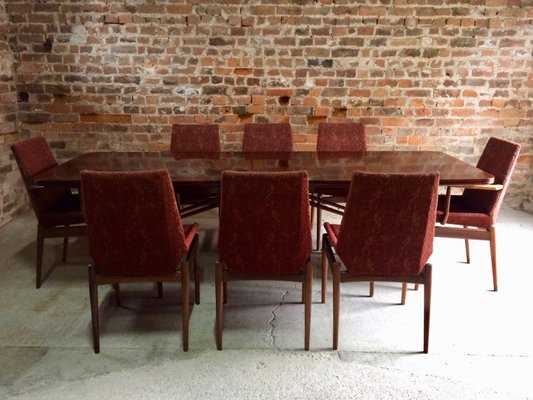 Mid Century Rosewood Dining Table 8 Chairs By Robert Heritage For Archie Shine