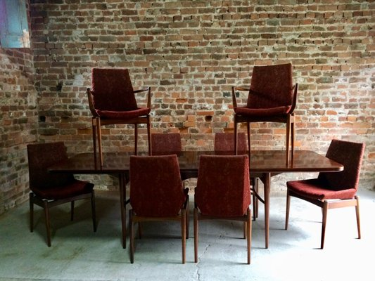 Mid Century Rosewood Dining Table 8 Chairs By Robert Heritage For Archie Shine 2