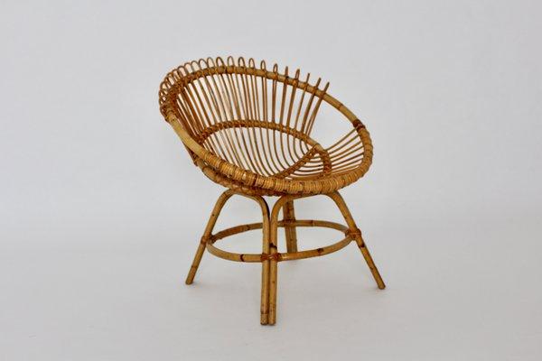 Mid Century Modern Rattan Chair 1960s 2