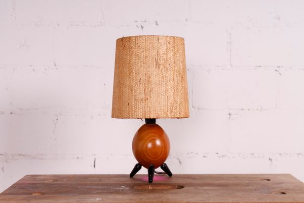 Small Mid Century Table Lamp 1950s 1