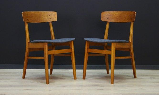 Chaises Vintage En Teck De Farstrup Danemark Set 2 1