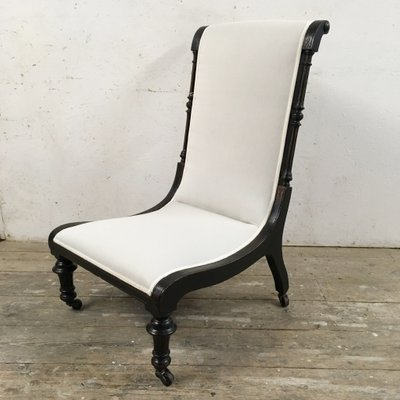 Antique Edwardian Slipper Chair 1 - Antique Edwardian Slipper Chair For Sale At Pamono