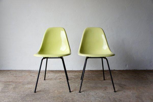 Vintage DSX Fiberglass Chairs by Charles u0026 Ray Eames for Herman Miller ... & Vintage DSX Fiberglass Chairs by Charles u0026 Ray Eames for Herman ...