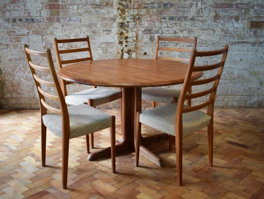 Vintage Dining Table With 4 Chairs By Svegards Markaryd 1