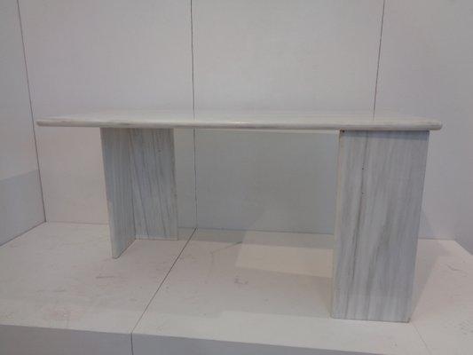 Vintage White Carrara Marble Dining Table From Bigelli Marmi, 1978