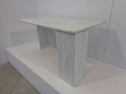 Vintage White Carrara Marble Dining Table From Elli Marmi 1978