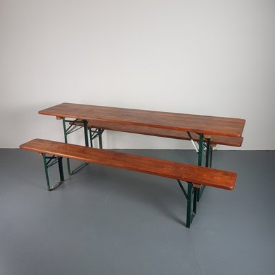 Awesome Vintage German Beer Table Benches Evergreenethics Interior Chair Design Evergreenethicsorg