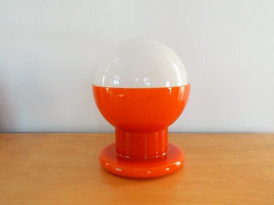 Lampe De Bureau Vintage Orange Blanche En Verre En Vente Sur Pamono