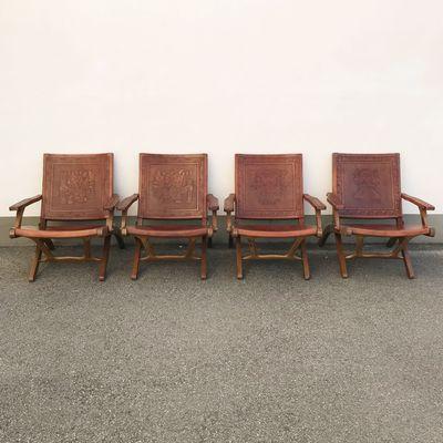 Estilo1960sSet Muebles Chaises Par Pour 4 IPazmino Pliantes De Angel 1cuKJ5l3FT