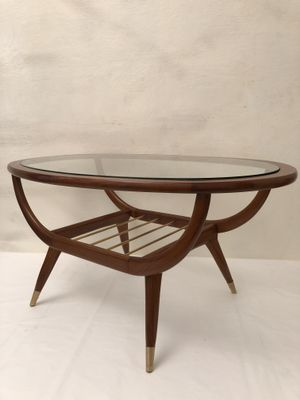 Oval Teak Coffee Table 1