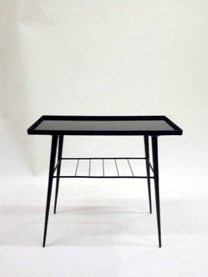 Beau Glass U0026 Hand Wrought Iron Side Table, 1970s 1