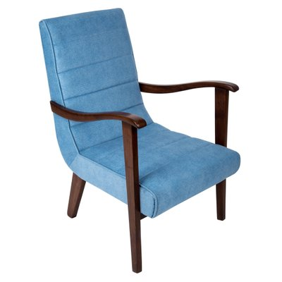 Mid Century Blue Armchair 1960s For Sale At Pamono