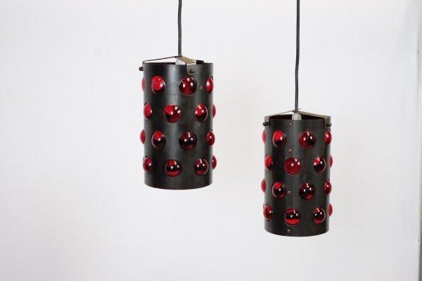 Lampade da soffitto vintage a forma di cilindro set di in