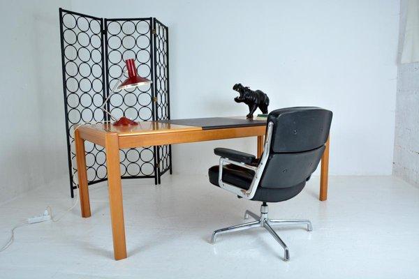 Grand bureau en bois verni s en vente sur pamono