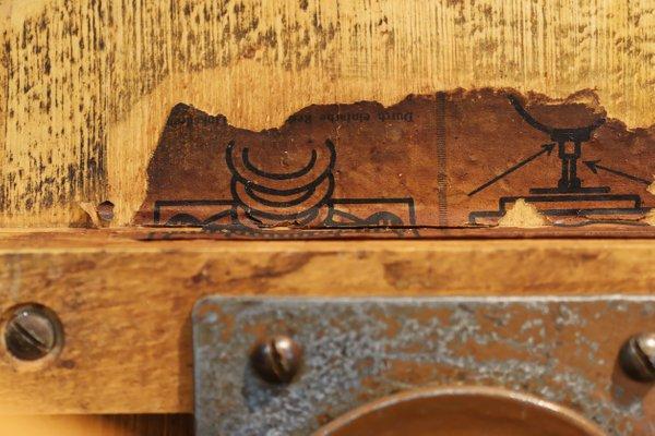 Sgabello vintage girevole in legno di stoll federdreh anni in