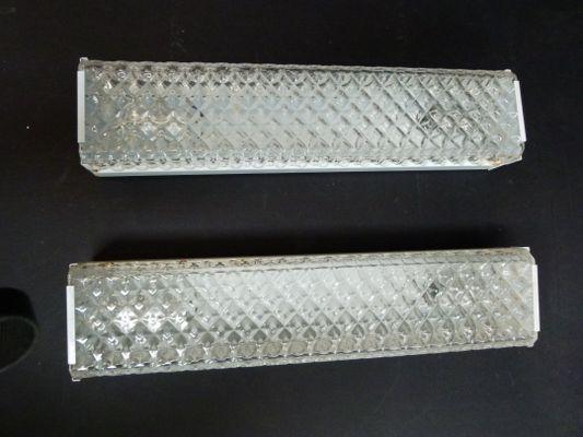 Applique in vetro di murano bianco anni 50 set di 2 in vendita su