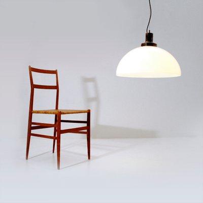 Italian Pendant Lamp With Perspex Shade 1960s