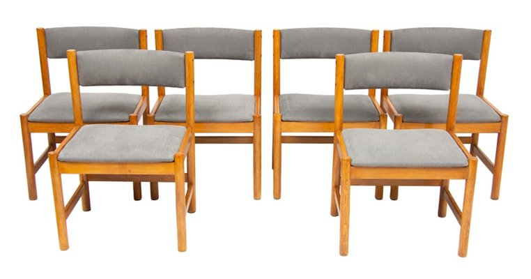 Mid Century Danish Oak Dining Chairs By Borge Mogensen For Karl Andersson Söner