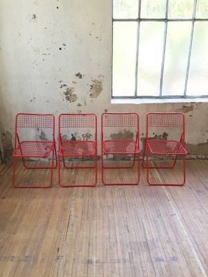 Sedie Pieghevoli Economiche Ikea.Sedie Ted Pieghevoli Vintage Di Niels Gammelgaard Per Ikea Set Di