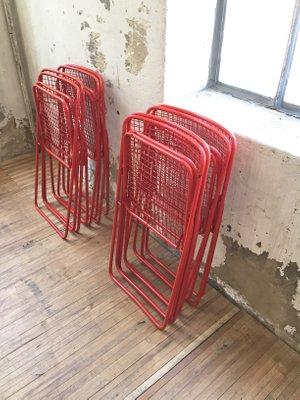 par Niels IkeaSet Vintage Ted 4 de Rouges pour Chaises Pliantes Gammelgaard nkO80PXw