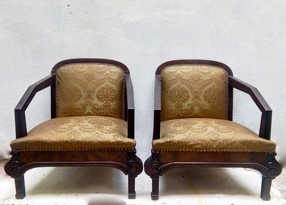 Art Deco Fauteuil.Fauteuil Art Deco 1930s Set De 2