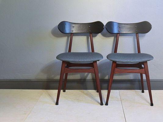Chaise DAppoint Vintage Par Louis Van Teeffelen Pour WeBe Pays Bas 1