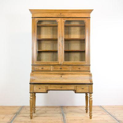Antique Display Cabinet with Secretary 1 - Antique Display Cabinet With Secretary For Sale At Pamono