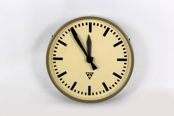 Railway Clock From Pragotron 1960s