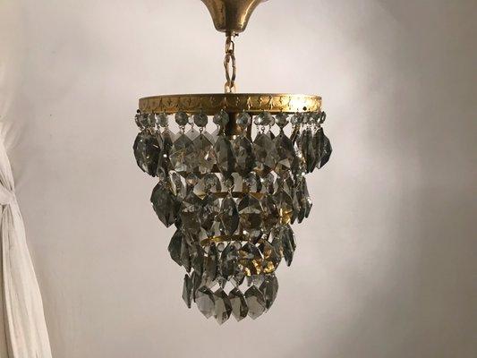 Lampada Vintage In Cristallo A Forma Di Goccia Francia In Vendita