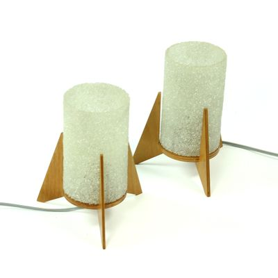 Spacecraft Table Lamps by Pavo Ikostan from Pokrok, 1970s, Set of 2 2
