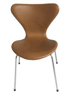 Vintage 3107 Butterfly Chair aus Leder von Arne Jacobsen für Fritz Hansen