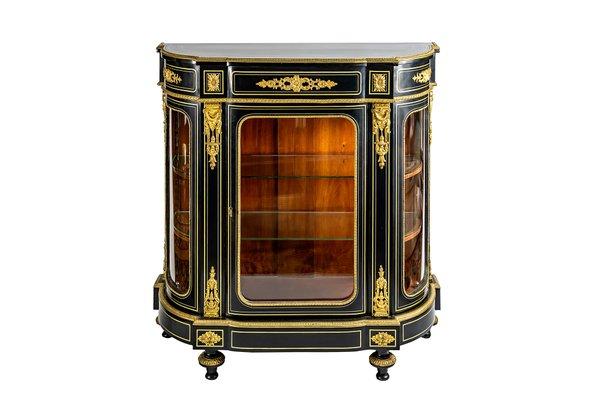 Antique French Napoleon III Vitrine Cabinet 1 - Antique French Napoleon III Vitrine Cabinet For Sale At Pamono