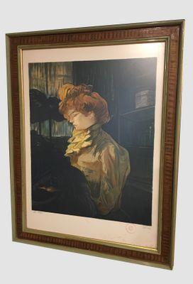1529ddfa7d2 Lithographie Antique Henri de Toulouse Lautrec par Laurent Marcel Salinas
