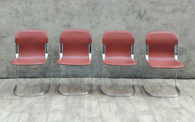 Chaises d\'Appoint par Willy Rizzo pour Roche Bobois, 1970s, Set de 4 ...