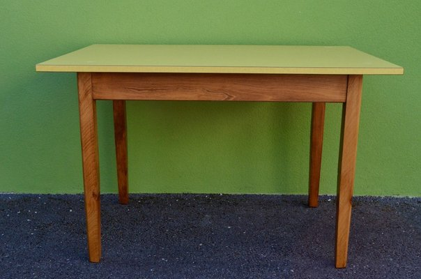 Bistro Table In Yellow Formica 1950s 1