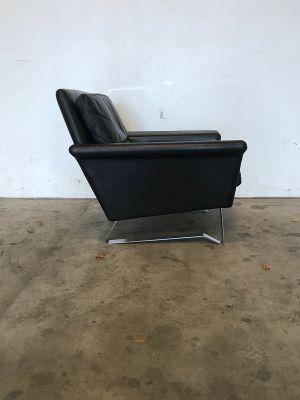 Amazing Vintage Danish Black Leather Lounge Chair Uwap Interior Chair Design Uwaporg