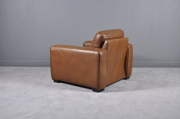 Enjoyable Large Vintage Brown Leather Club Chair Ncnpc Chair Design For Home Ncnpcorg