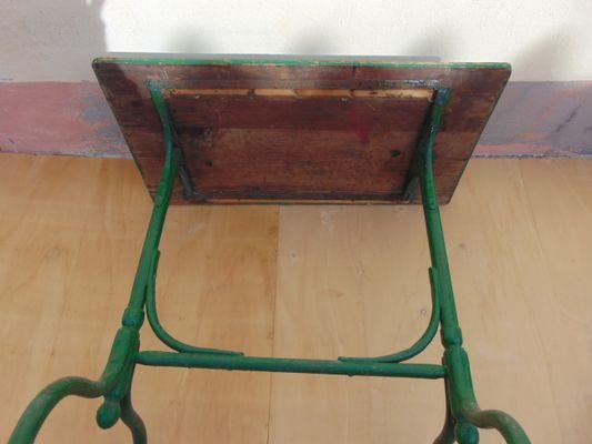 Vintage Gartentisch Aus Eisen Holz Bei Pamono Kaufen