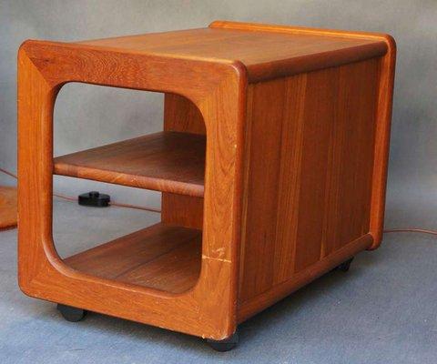 Modern Teak Tv Meubel.Mid Century Danish Teak Side Table From Toften Mobel 1960s For