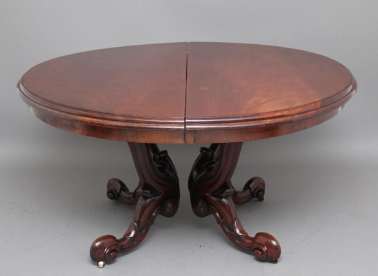 Genial Antique Mahogany Dining Table